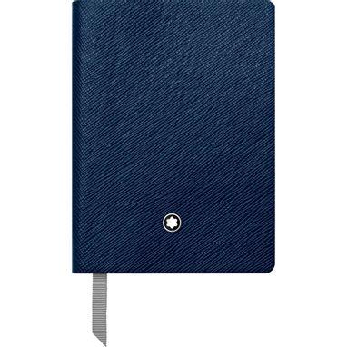 Montblanc-Fino-Material-de-Escritorio-Caderno-de--Apontamentos--145-Indigo-com-linhas