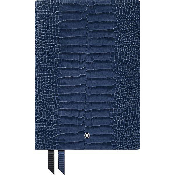 Caderno-de-anotacoes-Montblanc-Fine-Stationery--146-Estampa-crocodilo-Azul-violeta