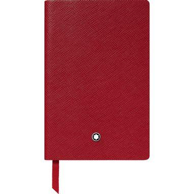 Caderno-de-anotacoes-Montblanc-Fine-Stationery--148--Vermelho-pautado
