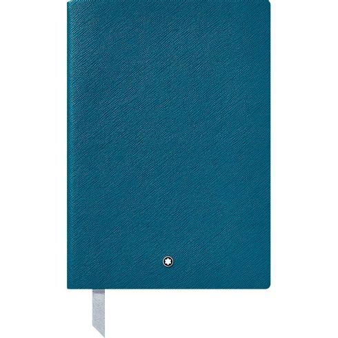 Caderno-de-Anotacoes--146-Montblanc-Fine-Stationery-azul-petroleo-pautado