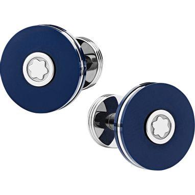 Abotoaduras-redondas-em-aco-inoxidavel-com-resina-azul