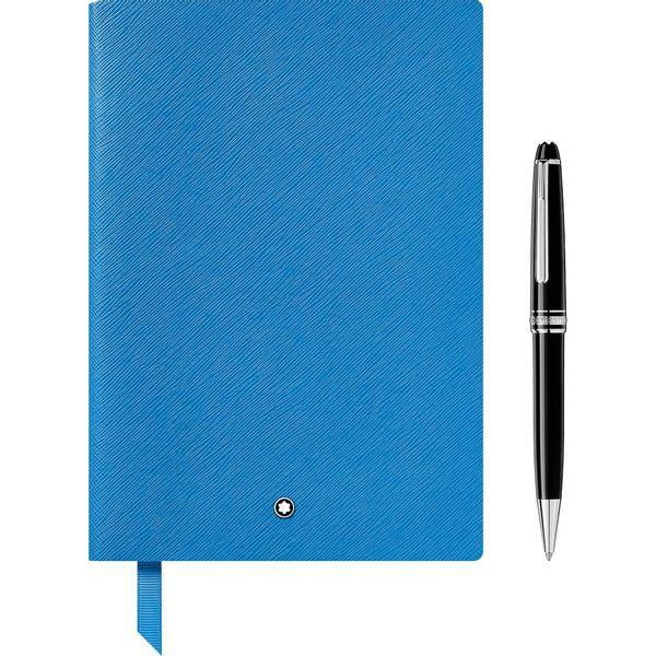 Conjunto-de-presente-com-Esferografica-Meisterstuck-Classique-Platinum-e-Caderno-de-anotacoes--146-Technicolor-azul