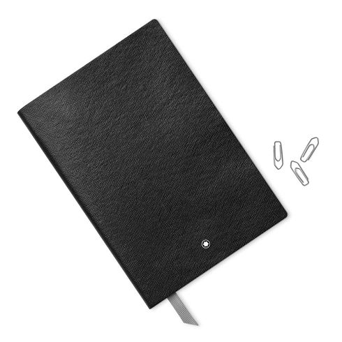 Montblanc-Fino-Material-de-Escritorio-Caderno-de-Apontamentos--146-Preto-quadriculado